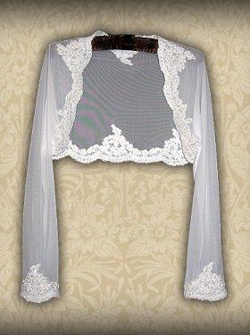 Свадебное болеро, белое, кремовое, 400 грн.