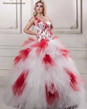 Свадебное платье Люси  с добавлением любого цвета