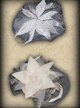 Свадебное украшение для волос с вуалькой, 200 грн.