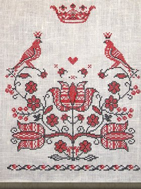 Свадебный рушник, под иконы на венчание, натуральный лён, 500 грн.